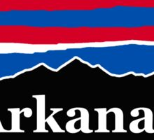Arkansas Red White and Blue Sticker