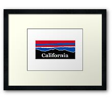 California Red White and Blue Framed Print
