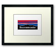 Sacramento Red White and Blue Framed Print