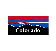 Colorado Red White and Blue Photographic Print