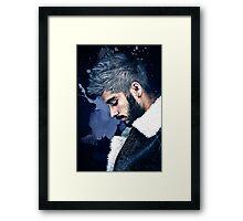 Zayn Malik Paint Splatter Framed Print