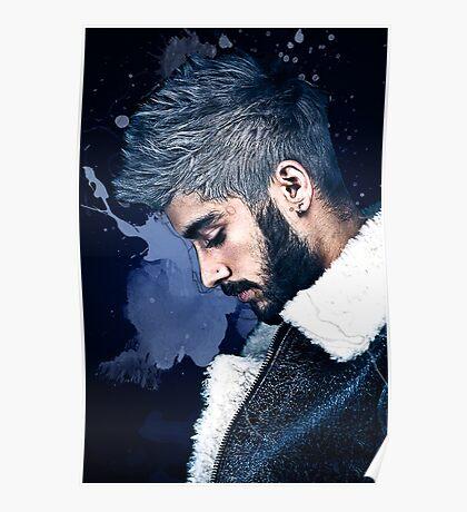 Zayn Malik Paint Splatter Poster