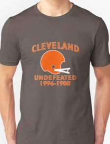 CLEVELAND UNDEFEATED 1996-19 funny nerd geek geeky T-Shirt