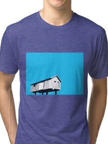 Vancouver Harbour shed on stilts Tri-blend T-Shirt