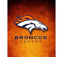 Denver Broncos logo Photographic Print