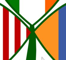Armenian Irish American Shamrock Sticker