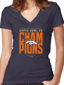 Broncos champions BLUE2 Women's Fitted V-Neck T-Shirt