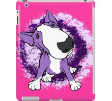 Purple English Bull Terrier Dog  iPad Case/Skin