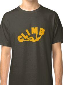 Climbing funny nerd geek geeky Classic T-Shirt