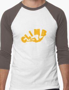 Climbing funny nerd geek geeky Men's Baseball ¾ T-Shirt