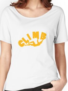 Climbing funny nerd geek geeky Women's Relaxed Fit T-Shirt