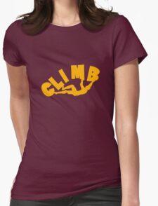 Climbing funny nerd geek geeky Womens Fitted T-Shirt
