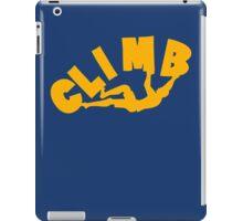 Climbing funny nerd geek geeky iPad Case/Skin