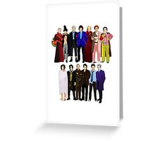 The Regenerated Doctors Greeting Card