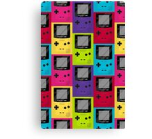 Gameboy Color Pattern Canvas Print