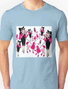 Miss Pinkie and her Poodle Unisex T-Shirt
