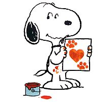 painting snoopy hand by monggobuy
