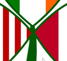 Austrian Irish American Shamrock Sticker