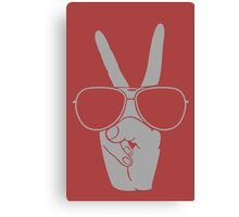 Cool Hand Peace funny nerd geek geeky Canvas Print