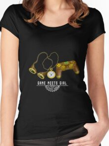 GMG PS4 white Women's Fitted Scoop T-Shirt