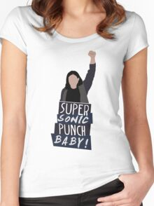 Super Sonic Punch - Cisco Women's Fitted Scoop T-Shirt