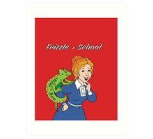 Frizzle > School Red Art Print