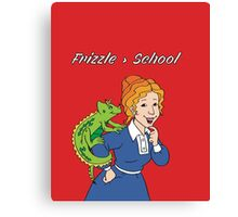 Frizzle > School Red Canvas Print