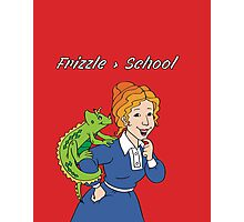 Frizzle > School Red Photographic Print