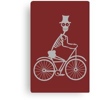 Day of the Dead Skeleton Bicycle funny nerd geek geeky Canvas Print