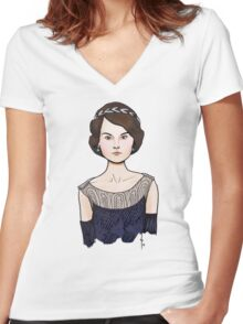 Mary Women's Fitted V-Neck T-Shirt