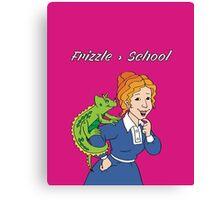Frizzle > School Pink Canvas Print