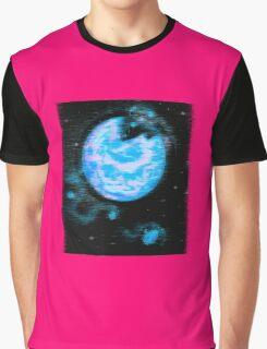 Retro-Crumbling Planetoid Graphic T-Shirt