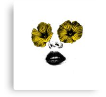 I see flowers Canvas Print