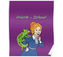 Frizzle > School Purple Poster