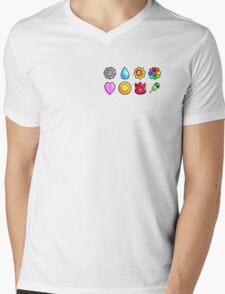 1st Generation Pokemon Badge Mens V-Neck T-Shirt