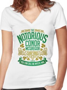 Conor McGregor - Limited Edition Women's Fitted V-Neck T-Shirt