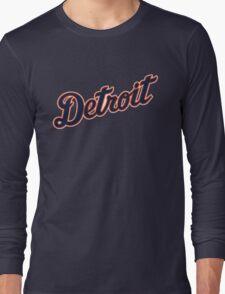 Detroit Tigers Typograph Long Sleeve T-Shirt