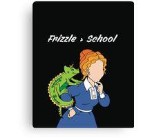 Frizzle > School Cutout Canvas Print