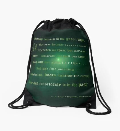 Gatsby believed in the green light Drawstring Bag