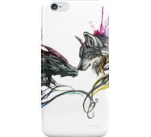 Dragon & Wolf By Katy Lipscomb iPhone Case/Skin