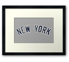 New York Yankees Simple Font Framed Print