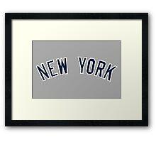 New York Yankees Simple Font Framed Print