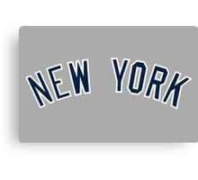 New York Yankees Simple Font Canvas Print
