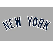 New York Yankees Simple Font Photographic Print