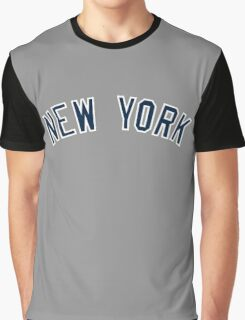 New York Yankees Simple Font Graphic T-Shirt