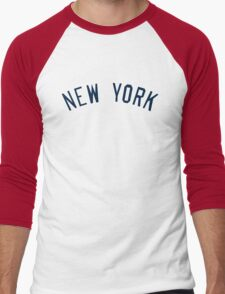 New York Yankees Simple Font Men's Baseball ¾ T-Shirt