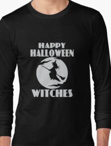Happy Halloween Witches funny nerd geek geeky T-Shirt