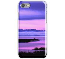 olympic mountains over north puget sound - pink iPhone Case/Skin