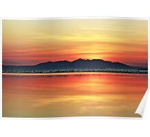 Sunset Over Arran Poster