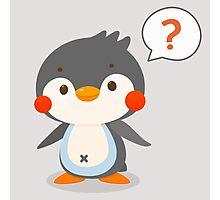Questionmark and penguin - DozerFever  Photographic Print